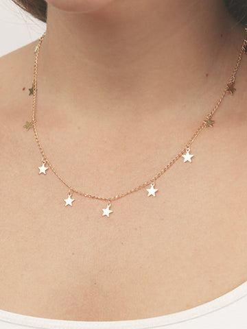 Bohemian Trendy Metal Strapless Star Zinc Alloy Jewelry