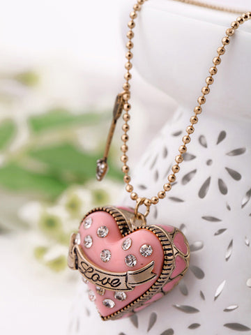Cute/Romantic Resin Metal Strand Heart Zinc Alloy Gold Plated Jewelry