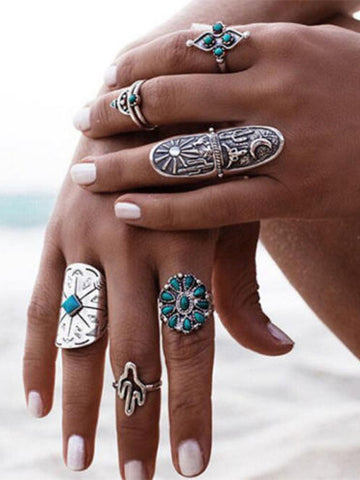 Ethnic Hiphop/Rock Metal Geometric Zinc Alloy Jewelry