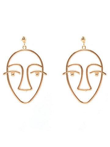 Trendy Metal Face Zinc Alloy Jewelry