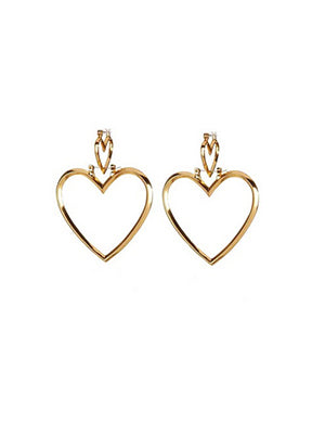 Trendy Metal Heart Zinc Alloy Jewelry