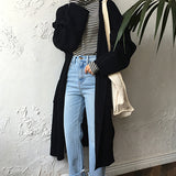 Autumn Fashion Oversized Long Knitted Casual Sweater
