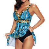 Blue Formal Print Tankinis