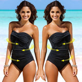 Black Fashion Solid One-Pieces