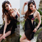 Black Fashion Solid Hollow Out Tankinis