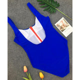 Royal Blue Fashion Solid One-Pieces