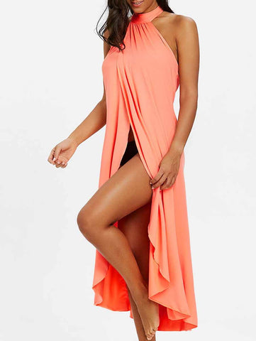 Pink Fashion Solid Cover-Ups