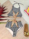 Multicolor Fashion Sexy Pattern Print One-Pieces