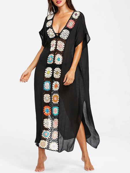 Black Fashion Pattern Cover-Ups