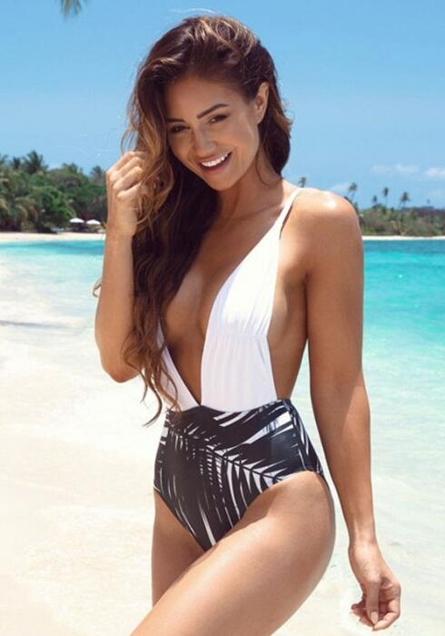 Sexy Deep V One Piece Swimsuits Sexy Womens Monokini Push Up Bathing Suits