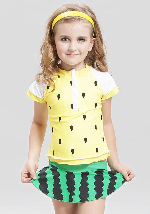 Lovely Children Swimwear Kids Two Piece Swimsuit For Girls Watermelon