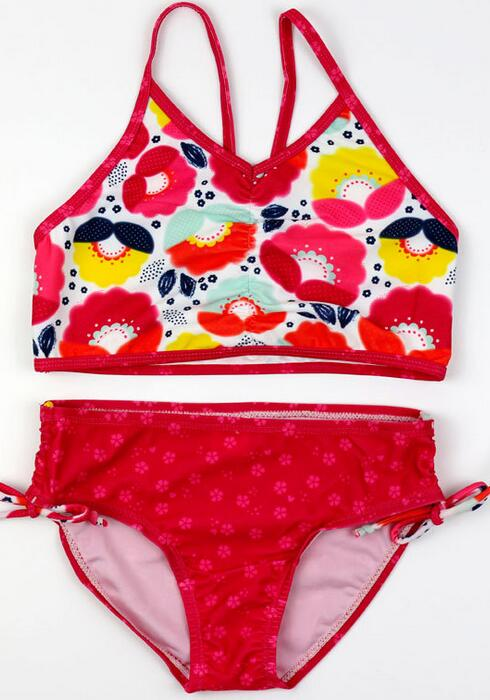 Summer Baby Girls Cute Print Beachwear Set Two Piece Girls Swimwear