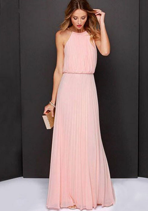 2018 Casual Summer Women Sleeveless Evening Party Maxi Dress