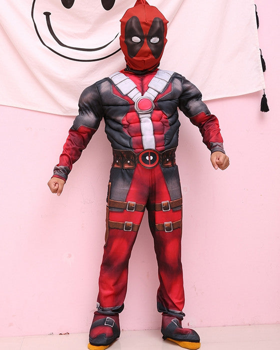 Children's Cosplay Costume Jumpsuit Marvel Muscle Deadpool Cosplay Costume