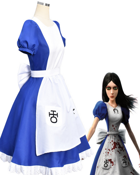 Alice Madness Returns Halloween Dress Cosplay Costume