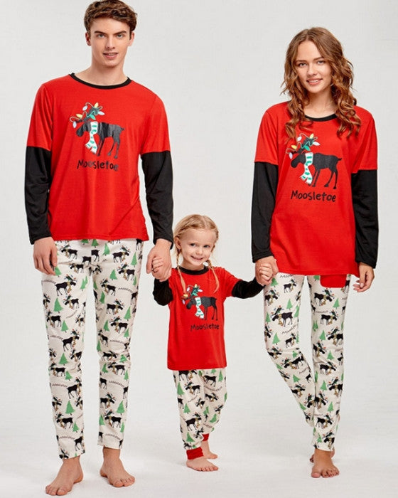 Christmas Matching Family Outfits Deer Print Christmas Loungewear