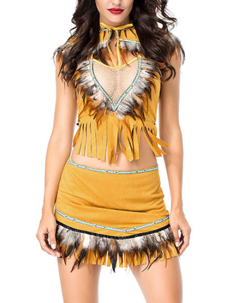 Women's Halloween Costume Native American Cosplay Dress Cosplay Costume