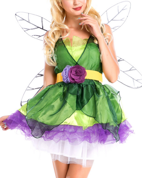 Women's Halloween Costume Flower Fairy Cosplay Dress Cosplay Costume