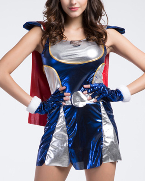 Women's Halloween Costume Supergirl Cosplay Dress Cosplay Costume