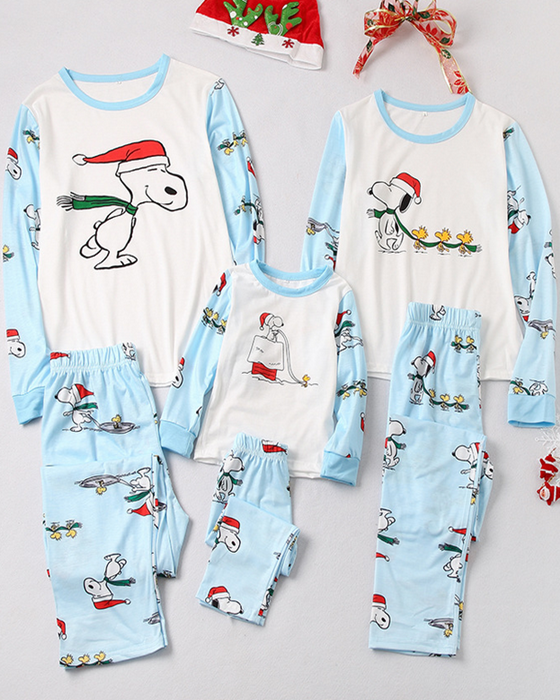 Christmas Snoopy Print Loungewear Christmas Family Matching Outfits