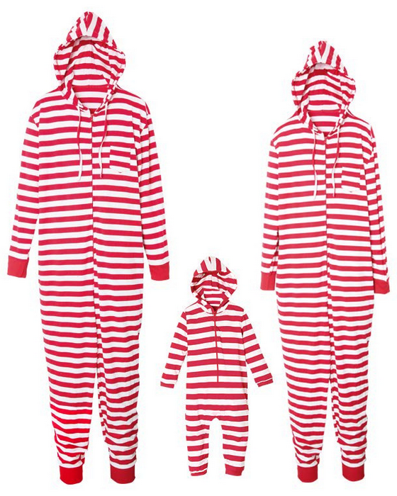 Christmas Striped Loungewear Christmas Family Matching Outfits Jumpsuit