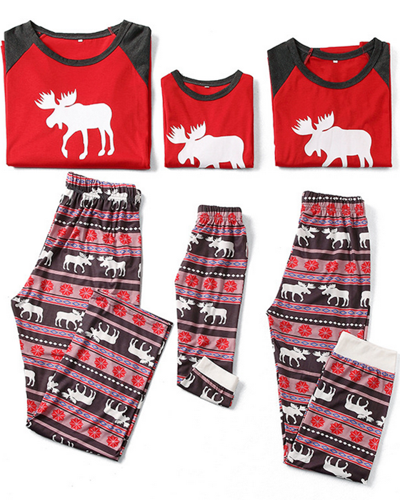 Christmas Loungewear Christmas Deer Print Family Matching Outfits