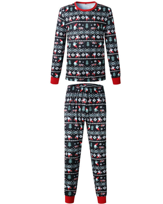 Christmas Loungewear Black Family Matching Christmas Pajamas