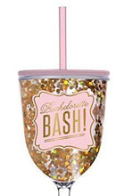 "Wine Glass,13oz Acrylic - ""Bachelorette Bash"" Gold Confetti by Slant"