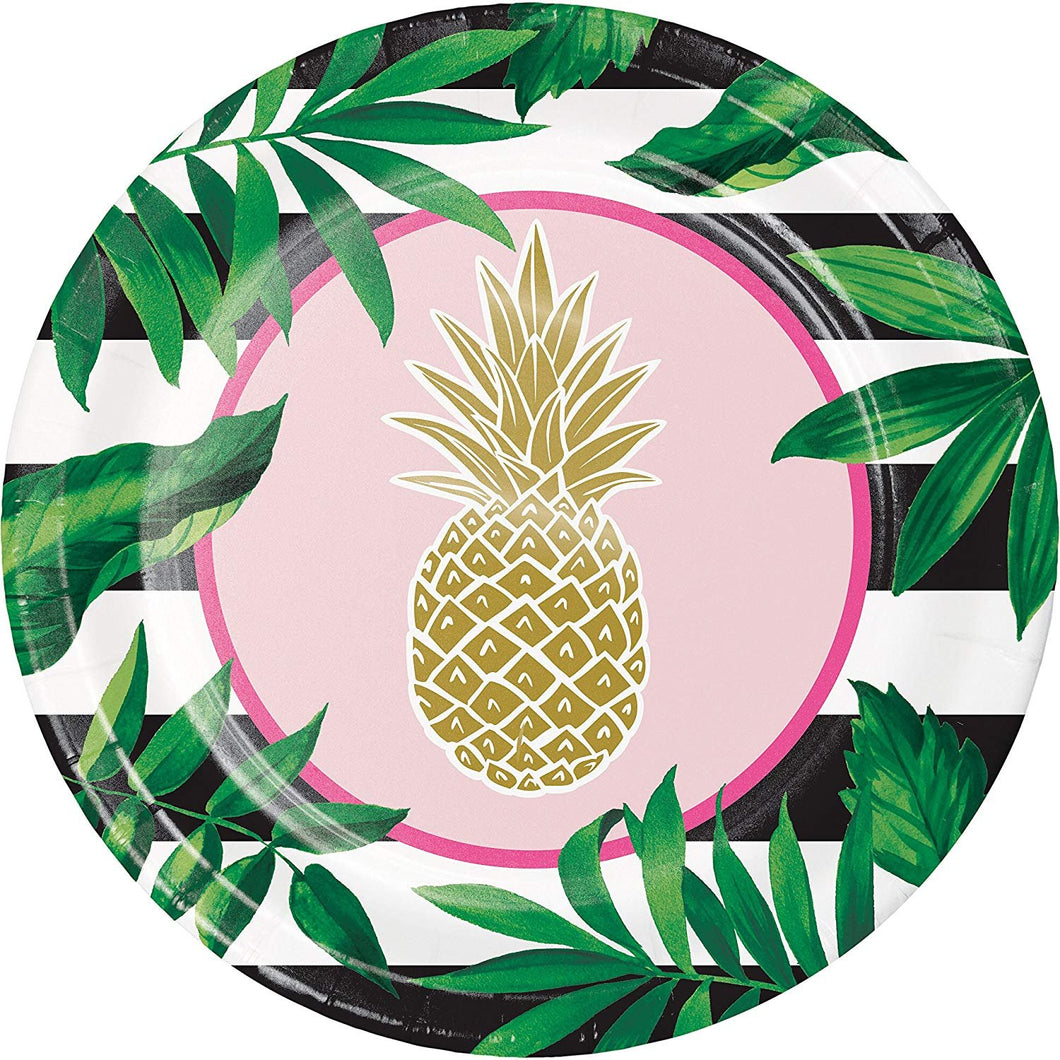 Plate Banquet, Golden Pineapple 24 ct
