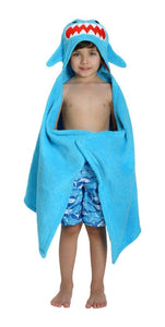 Shark Blue Hooded Towel by Zoocchini