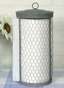 Paper Towel Holder, chicken wire