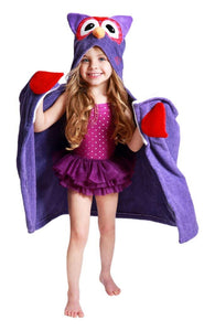 Owl Purple Hooded Towel by Zoocchini