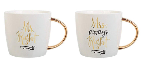 Ceramic Coffee Mugs 20oz - Mr. Right & Mrs. Always Right by Slant