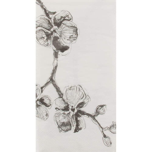 Guest Napkin, Black Orchid by Madhouse Michael Aram 32ct