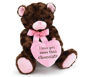 "Teddy Bear, ""I Love you More Than Chocolate"""