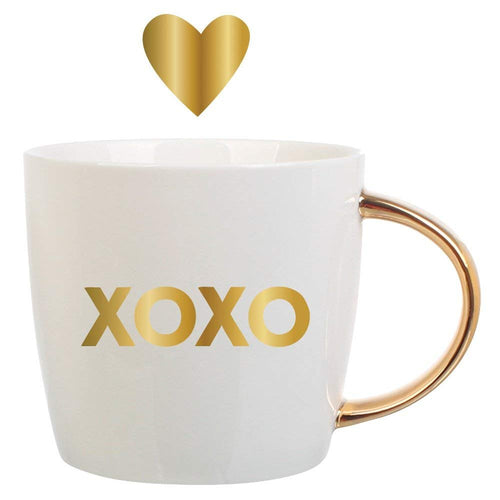 Ceramic Coffee Mug 14oz, XOXO Gold Foil by Slant