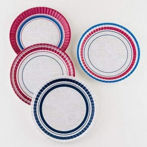 "Melamine ""Paper"" Plates, 9 Inch, Set of 4"