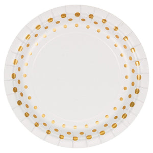 Plates Dessert, Sparkle and Shine Gold- 24ct