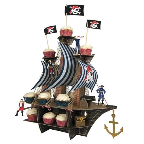 Centerpieces- Cupcake Pirate Ship by Meri Meri
