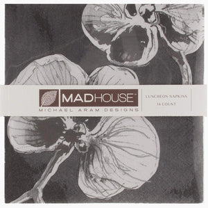 Lunch Napkins, Black Orchid BY Madhouse Michael Aram