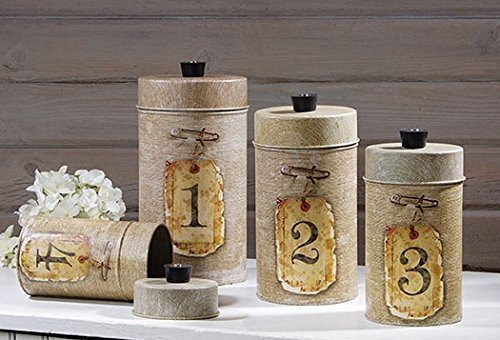 Canister Set, Vintage Burlap by Timeless Design