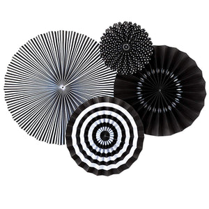 Fans, Black and White set of 4 by My Mind's eye