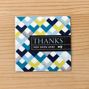 "Pop Open Cards ""Thanks"""