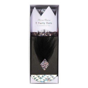 Black & White Party Hats by Meri meri