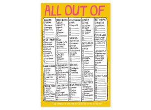 "Pad with Magnet, ""All Out Of"" by Knock Knock"