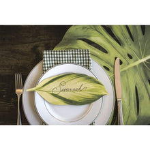 Paper Placemat, Die-Cut Green Monsterra Leaf by Hester and Cook