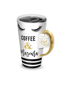 Travel Mug 13oz - Coffee & Mascara by Lady Jane