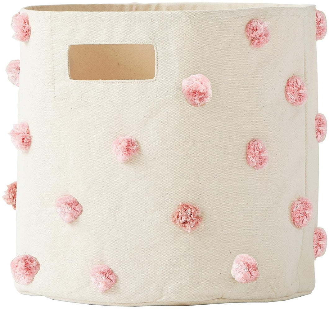 Storage Bin, Pink Pom Pom by Pehr Designs