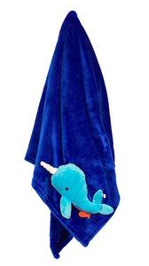 Stroller Blanket, Whale/Blue by Zoocchini