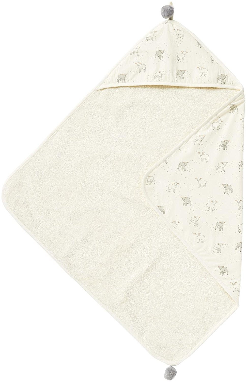 Hooded Towel- Little Lamb Light Grey by Pehr Designs
